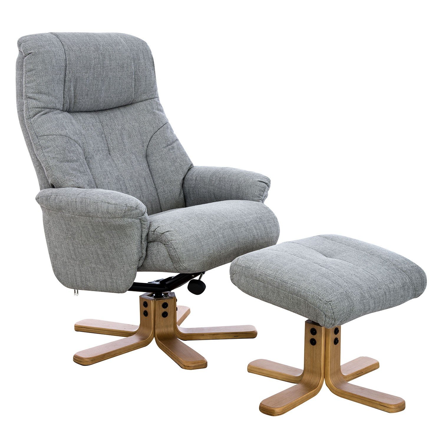Casa Trento Swivel Recliner And Footstool | Leekes Within Decker Ii Fabric Swivel Rocker Recliners (Image 5 of 25)
