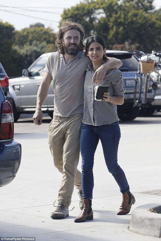 Casey Affleck And New Girlfriend Floriana Lima Seen On Romantic Within Newest Casey Grey 66 Inch Tv Stands (View 22 of 25)
