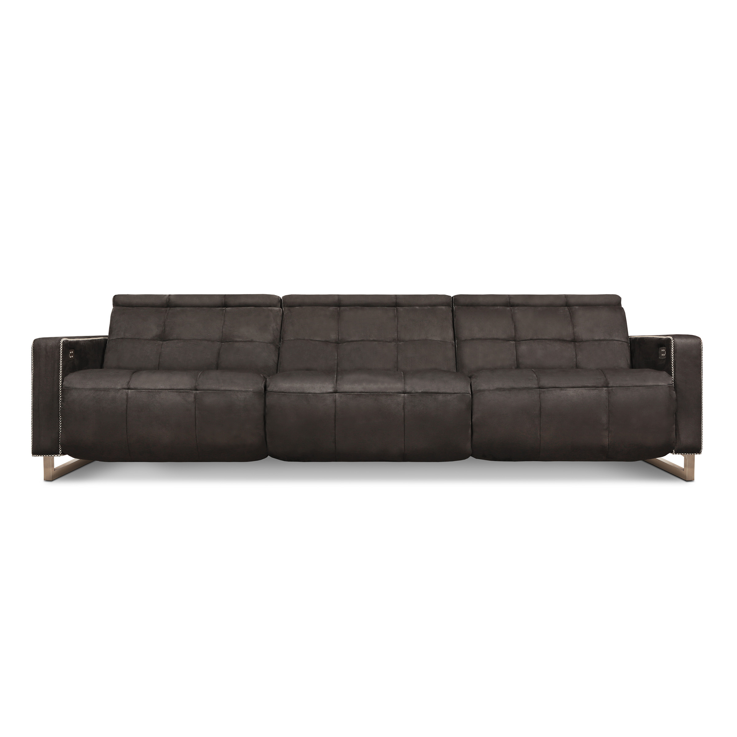 Casino Royale Motion – Eleanor Rigby Home Regarding Caressa Leather Dark Grey Sofa Chairs (Image 15 of 25)