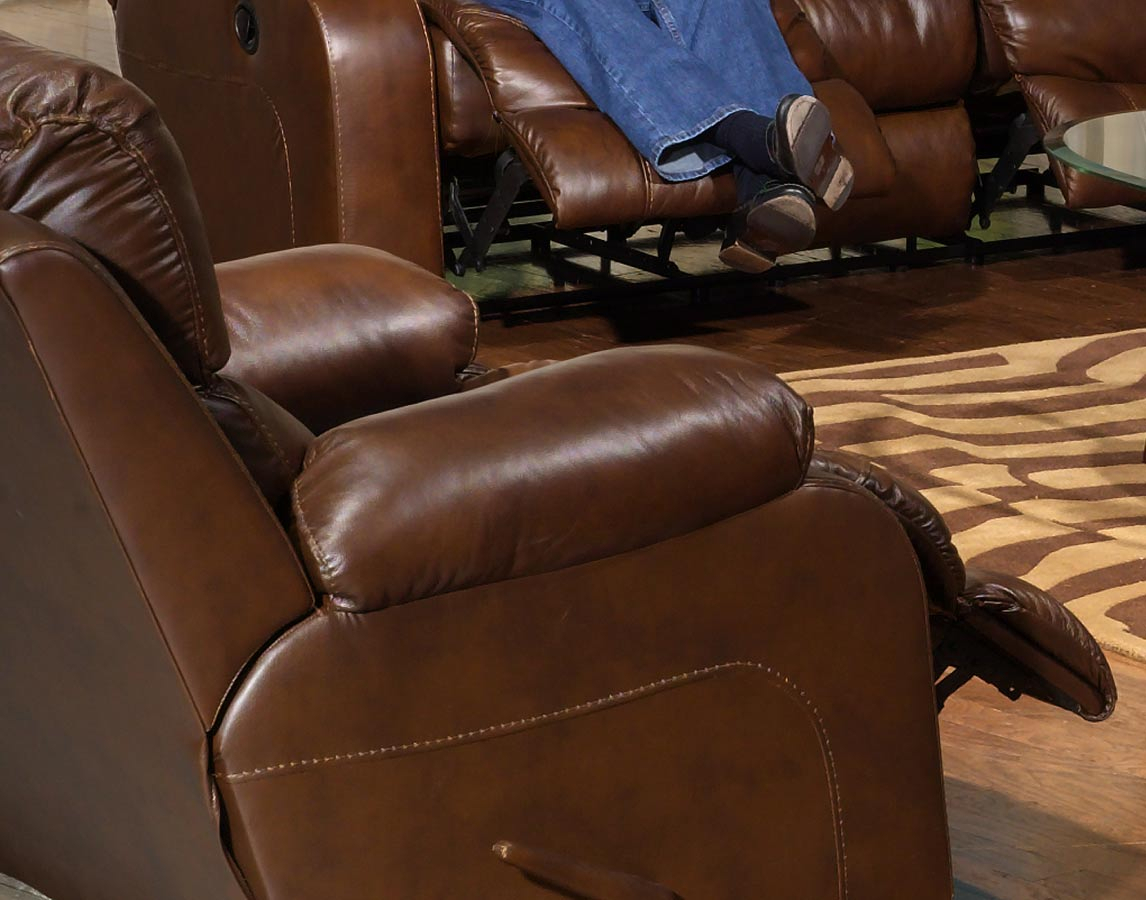 Catnapper Dallas Top Grain Leather Swivel Glider Recliner – Tobacco Throughout Swivel Tobacco Leather Chairs (View 23 of 25)