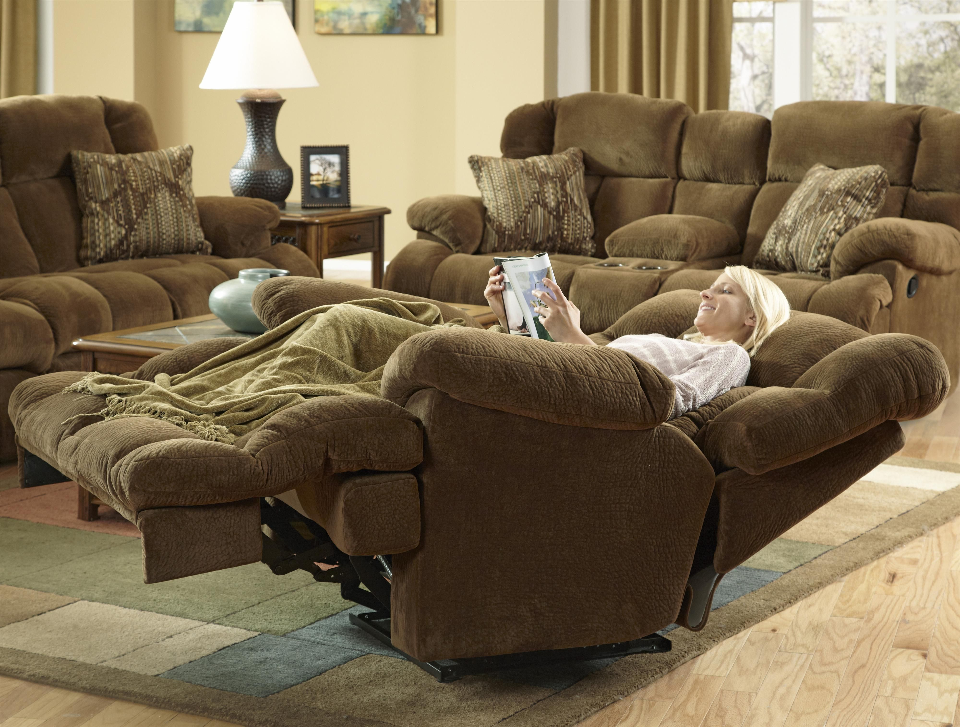 "Catnapper Furniture: Concord Collection ""power"" ""lay Flat"" Recliner Within Gibson Swivel Cuddler Chairs (View 25 of 25)"