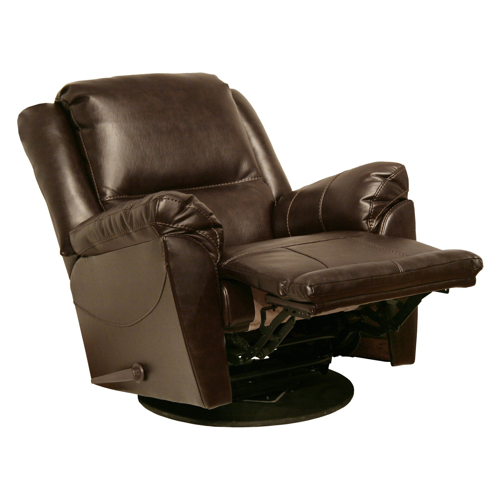 Catnapper Maverick Chaise Leather Swivel Glider Recliner – Walmart Throughout Swivel Tobacco Leather Chairs (View 15 of 25)