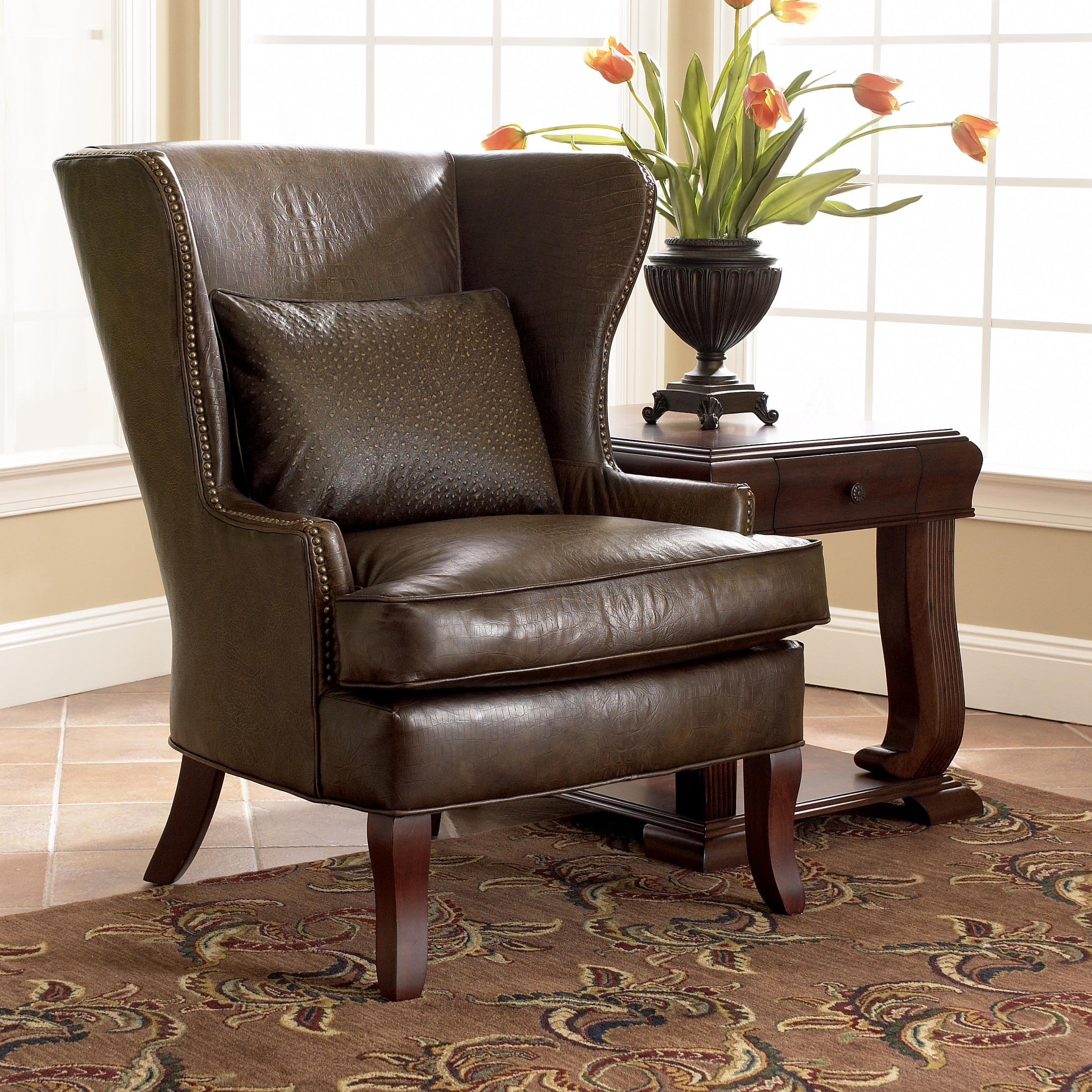 Chairs And Accents (Leather )Klaussner – Pilgrim Furniture City Intended For Devon Ii Swivel Accent Chairs (View 22 of 25)