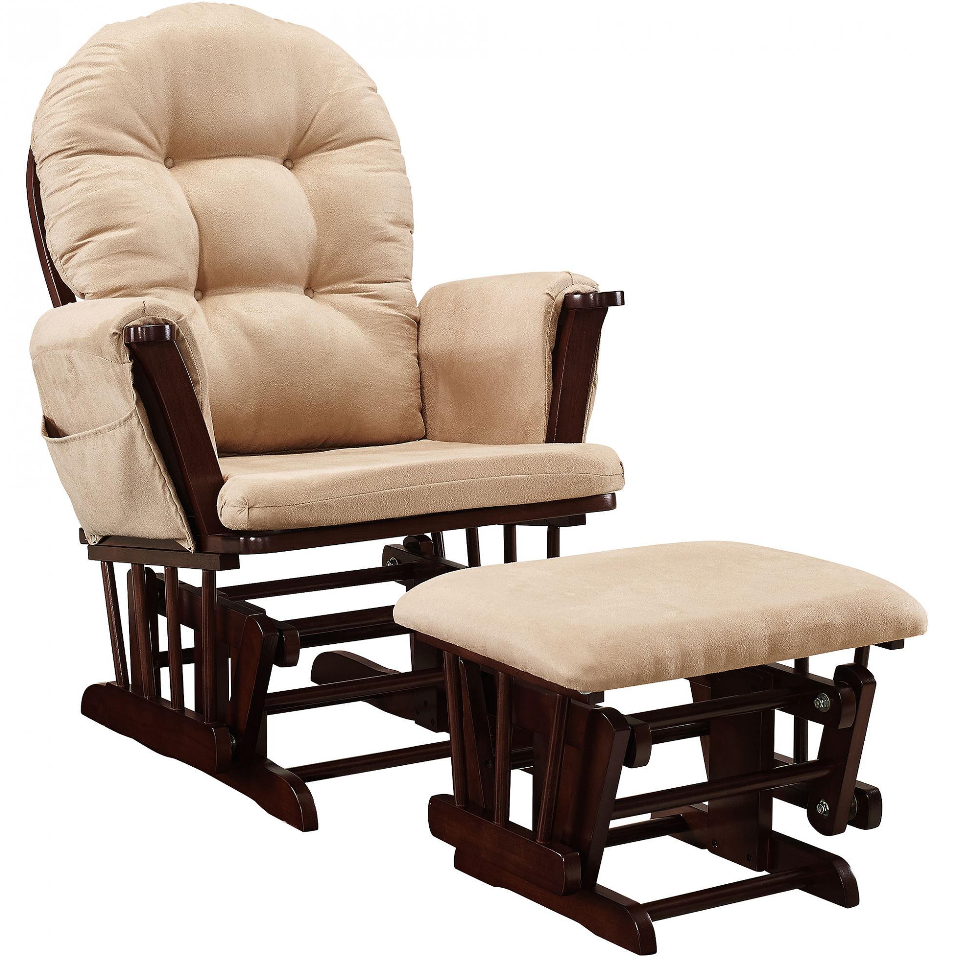 Chairs: Baby Relax Abby Rocker Gray Walmart Inside Entrancing Within Abbey Swivel Glider Recliners (View 17 of 25)