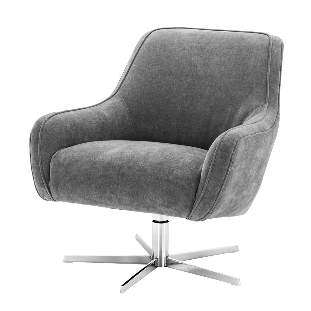 Chairs Tanya Swivel Chair Grey Unusual | Tingmei In Outdoor Koro Swivel Chairs (View 19 of 25)