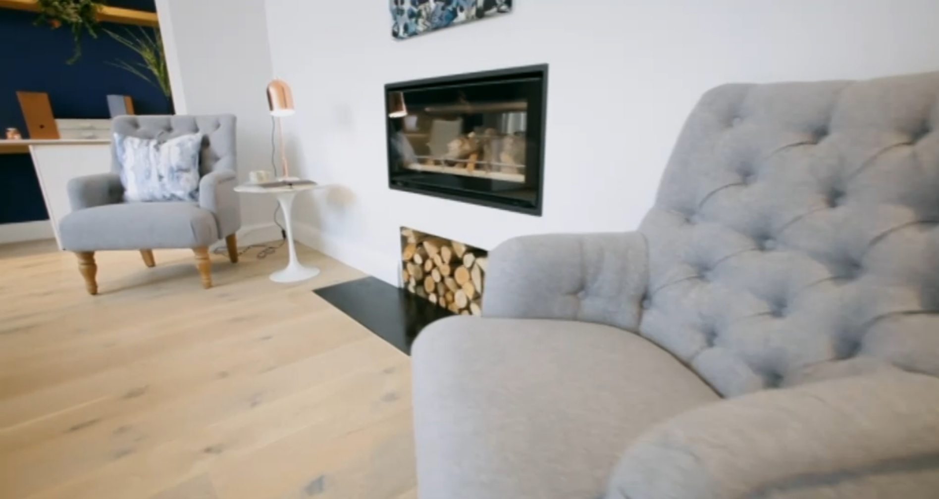 Channel 4's Bang On A Budget Featuring The Padstow Arm Chair – Birlea Within Lucy Grey Sofa Chairs (Image 1 of 25)
