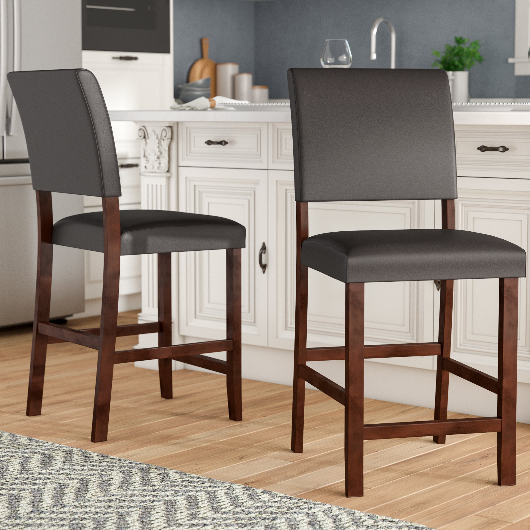 """Charlton Home Apple Valley 24"""" Bar Stool & Reviews 