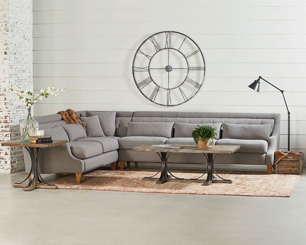 Chisel Sectional Sofa Living Room – Magnolia Home | Home I'll Never Inside Magnolia Home Ravel Linen Sofa Chairs (View 11 of 25)