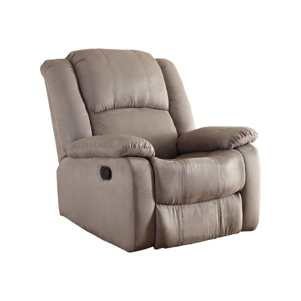 Chocolate – Chairs – Living Room Furniture – The Home Depot Regarding Hercules Chocolate Swivel Glider Recliners (View 16 of 25)