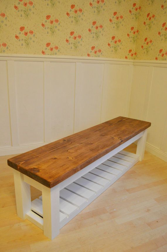 Chunky Hall Shoe Storage Bench Shoe Racks Ukbespokepineuk With Fashionable Scattered Geo Console Tables (Image 13 of 25)