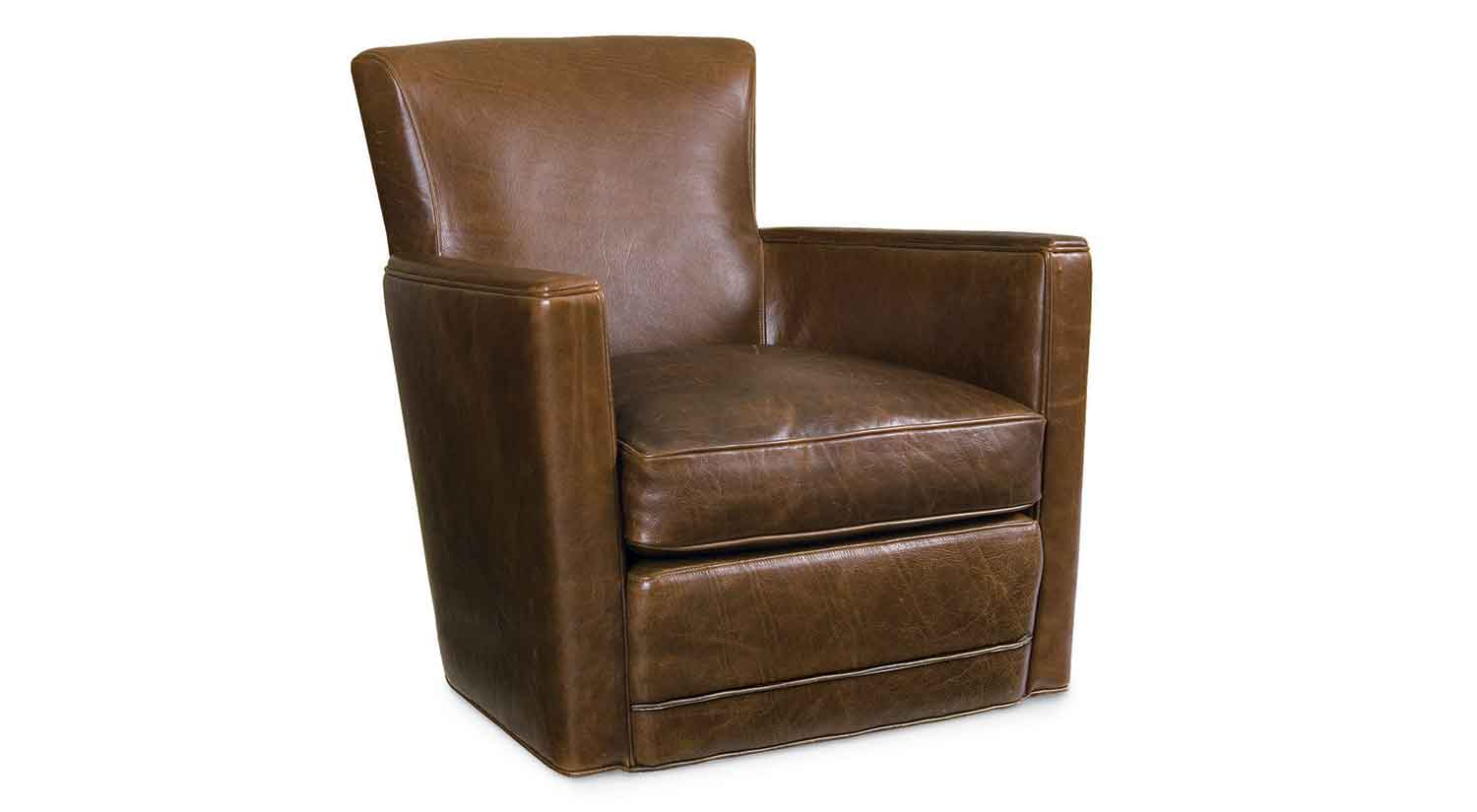 Circle Furniture – Trent Leather Chair | Leather Arm Chairs | Circle With Swivel Tobacco Leather Chairs (View 12 of 25)