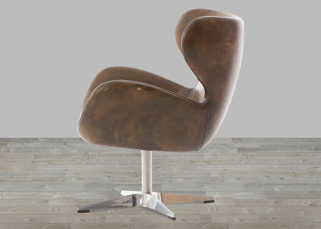 Classic England Espresso-Toned Leather Swivel Chair throughout Espresso Leather Swivel Chairs