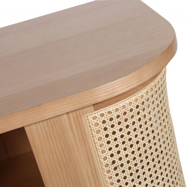 Clickon Furniture Throughout Current Natural Cane Media Console Tables (View 24 of 25)