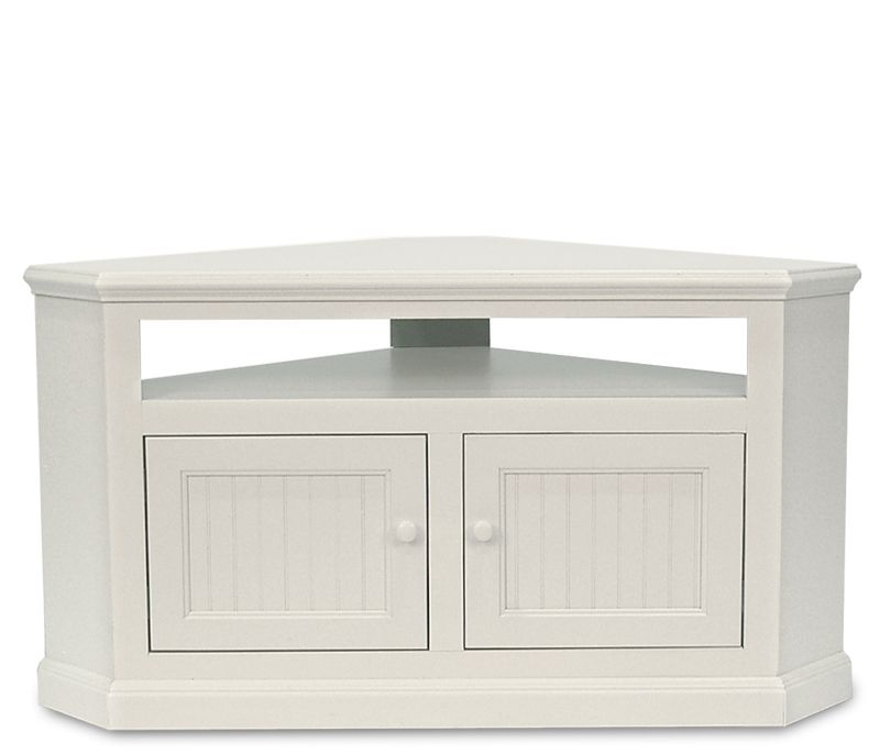 Coastal Corner Tv Stand – Soft White – An Excellent Solution For With Widely Used White Corner Tv Cabinets (Photo 6991 of 7746)