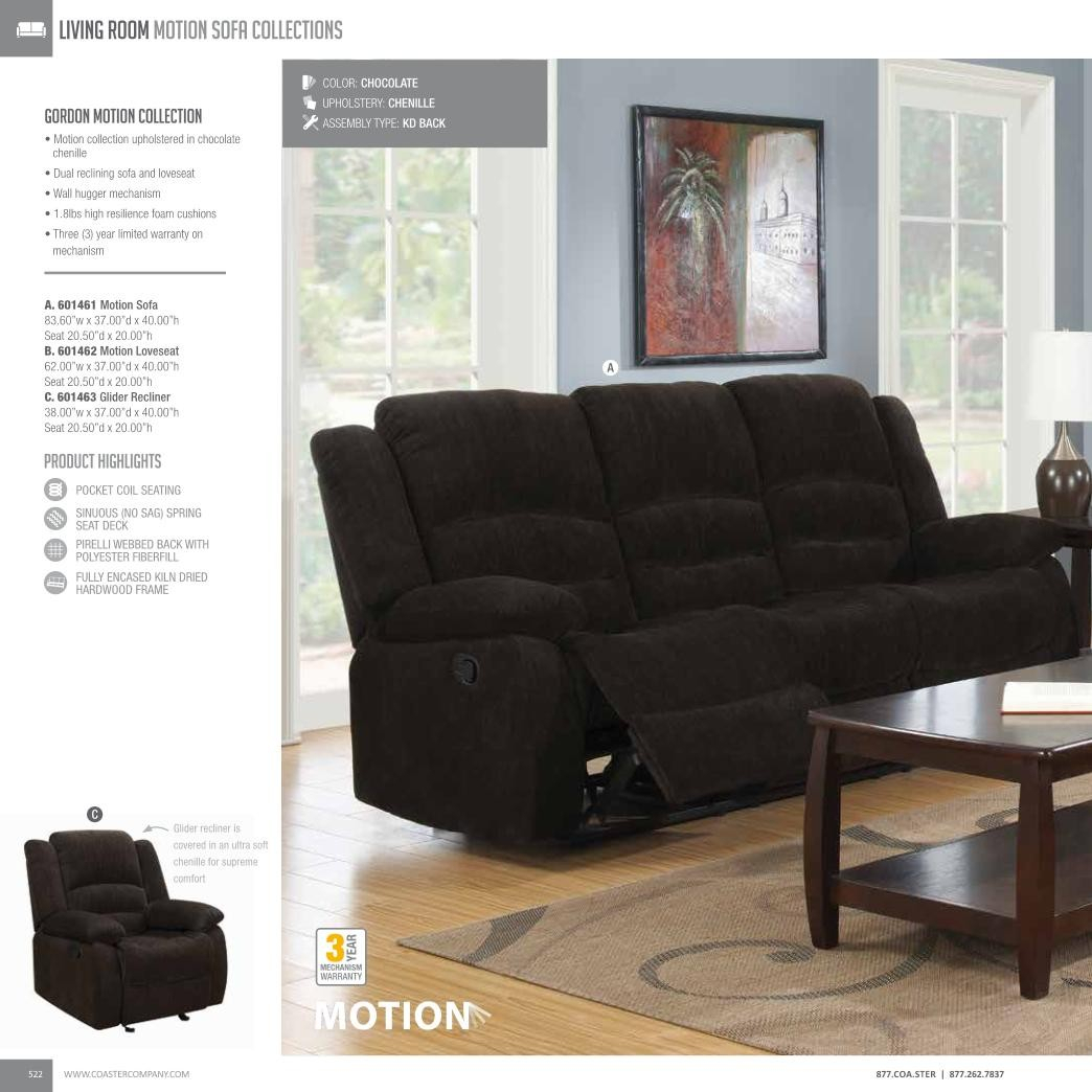 Coaster 601462 Gordon Motion Love Seat | Cheny Furniture Chicago Intended For Gordon Arm Sofa Chairs (View 20 of 25)