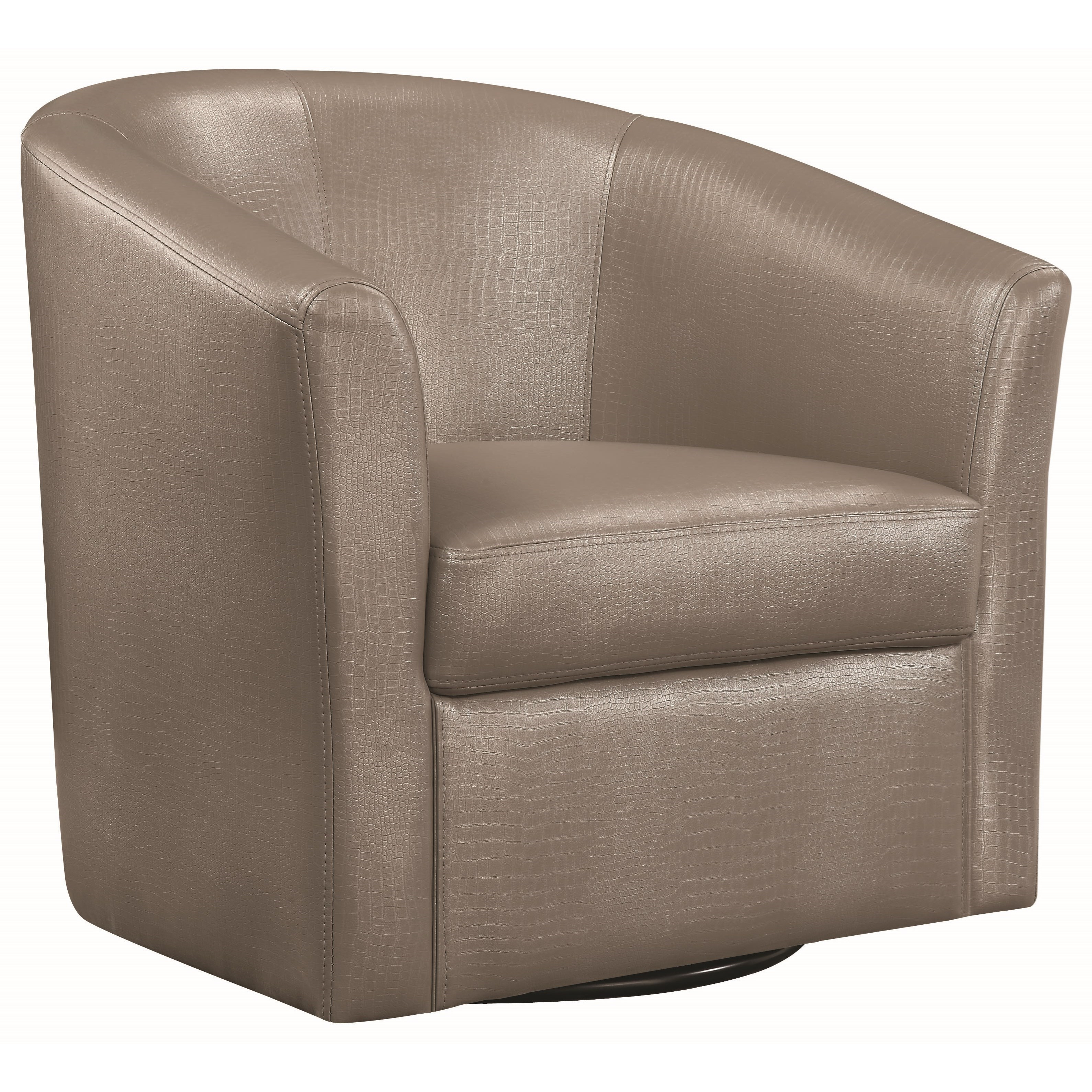 Coaster Accent Seating Contemporary Styled Accent Swivel Chair Throughout Umber Grey Swivel Accent Chairs (View 9 of 25)