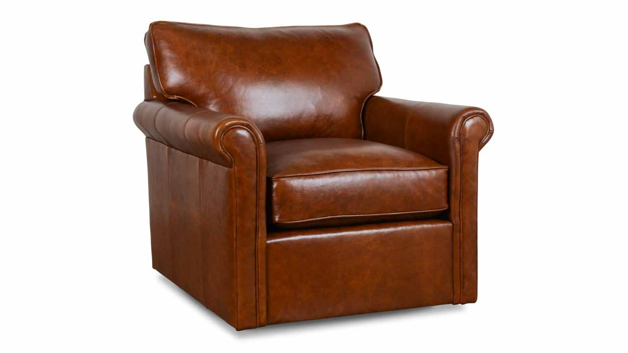 Cococo Home | Leather Recliners And Swivel Chairs – Made In Usa Pertaining To Chocolate Brown Leather Tufted Swivel Chairs (View 10 of 25)