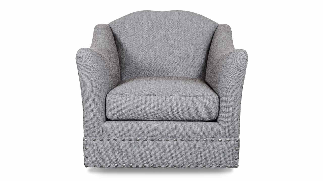 Cococo Home | Raleigh Fabric Swivel Chair – Made In Usa Regarding Charcoal Swivel Chairs (View 15 of 25)
