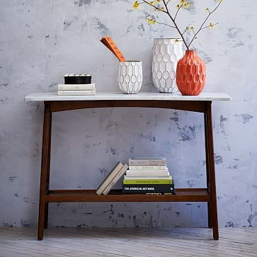 Coffee Tables, Side Tables Within Trendy Parsons Grey Solid Surface Top & Dark Steel Base 48X16 Console Tables (Image 7 of 25)