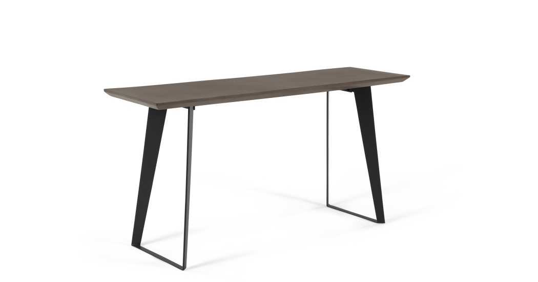 Concrete Top Console Table (Image 2 of 25)