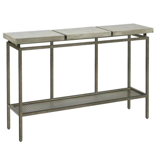 Concrete Top Console Table (Image 4 of 25)