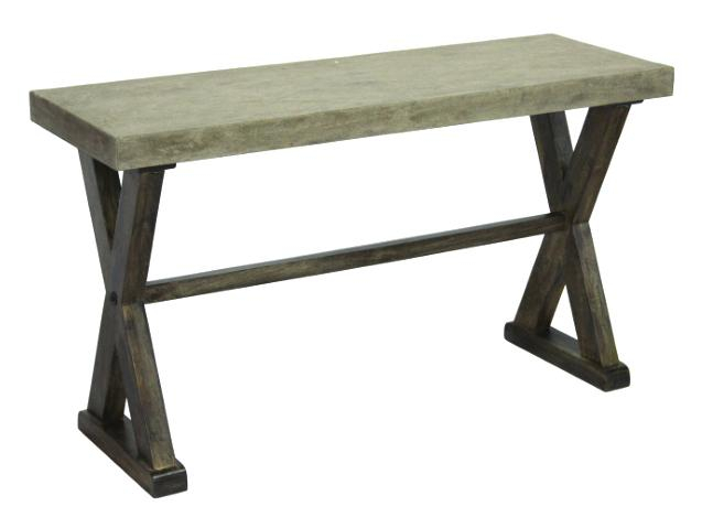 Concrete Top Console Table Awe Inspiring Parsons Dark Steel Base With Regard To Well Known Parsons Black Marble Top & Dark Steel Base 48X16 Console Tables (Image 4 of 25)