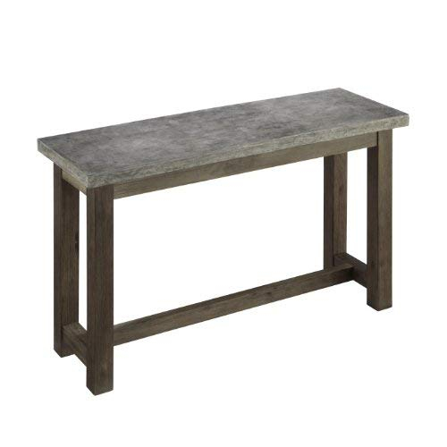 Concrete Top Console Table Exceptional Berkebunasik Com Decorating Pertaining To Latest Parsons Concrete Top & Brass Base 48X16 Console Tables (Image 7 of 25)