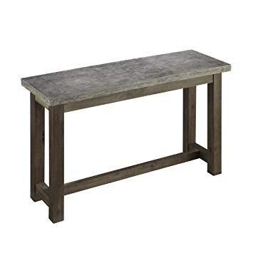 Concrete Top Console Table Imposing Parsons Dark Steel Base 48X16 Within Most Up To Date Parsons Grey Marble Top & Dark Steel Base 48X16 Console Tables (Image 4 of 25)