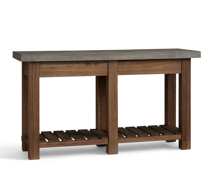Concrete Top Console Table Incredible Parsons Dark Steel Base 48X16 For Newest Parsons Travertine Top & Dark Steel Base 48X16 Console Tables (Image 5 of 25)