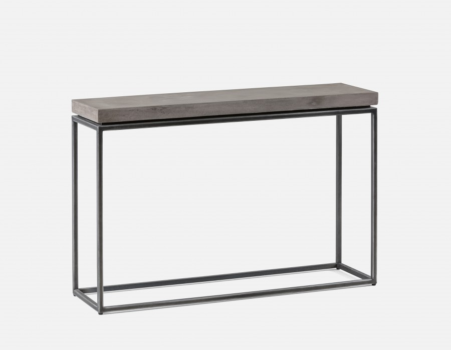 Concrete Top Console Table Incredible Parsons Dark Steel Base 48X16 Intended For 2018 Parsons White Marble Top & Stainless Steel Base 48X16 Console Tables (Image 5 of 25)