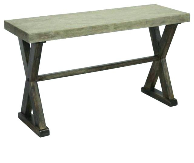 Concrete Top Console Table Incredible Parsons Dark Steel Base 48X16 Regarding Most Recently Released Parsons Black Marble Top & Elm Base 48X16 Console Tables (Image 4 of 25)