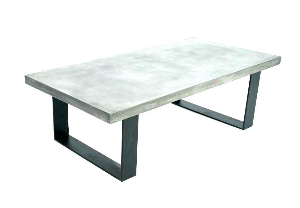 Concrete Top Console Table Marvelous Garrison Bronze Base Outdoor Inside Most Popular Parsons Concrete Top & Elm Base 48X16 Console Tables (Image 6 of 25)