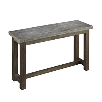 Concrete Top Console Table Monumental Parsons Dark Steel Base 48X16 For Famous Parsons Concrete Top & Stainless Steel Base 48X16 Console Tables (View 6 of 25)