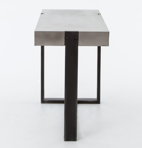 Concrete Top Console Table Monumental Parsons Dark Steel Base 48X16 Within Most Recent Parsons Grey Marble Top & Dark Steel Base 48X16 Console Tables (Image 6 of 25)
