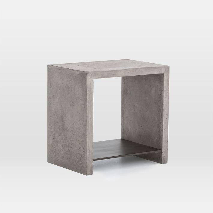 Concrete Top Console Table Phenomenal Parsons Dark Steel Base 48X16 Regarding Current Parsons Black Marble Top & Dark Steel Base 48X16 Console Tables (Image 7 of 25)