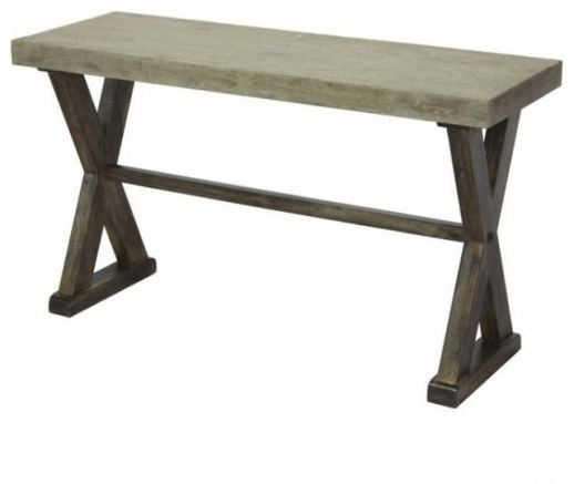 Concrete Top Console Table Tremendous Parsons Dark Steel Base 48X16 Intended For 2018 Parsons Grey Marble Top & Dark Steel Base 48X16 Console Tables (Image 8 of 25)