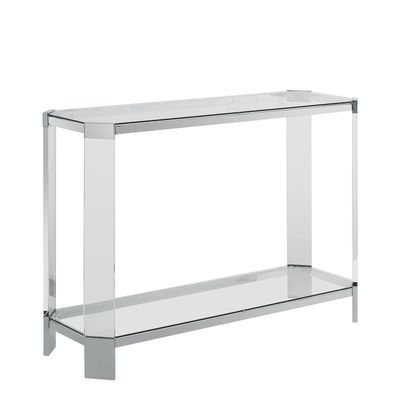 Console Table Within Popular Parsons Clear Glass Top & Dark Steel Base 48X16 Console Tables (Image 3 of 25)