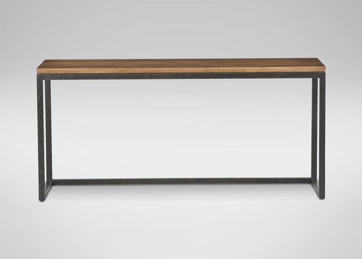 Console Tables, Consoles And For Well Known Parsons Grey Solid Surface Top & Elm Base 48X16 Console Tables (Image 4 of 25)