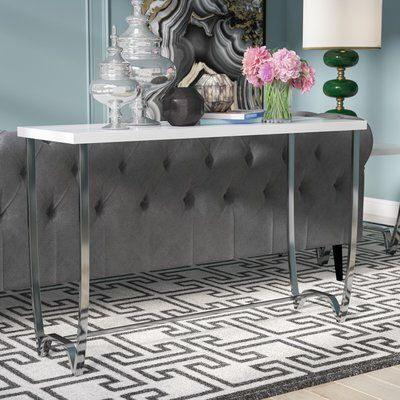 Console Tables, Consoles And Intended For Preferred Parsons Black Marble Top & Stainless Steel Base 48X16 Console Tables (Image 4 of 25)