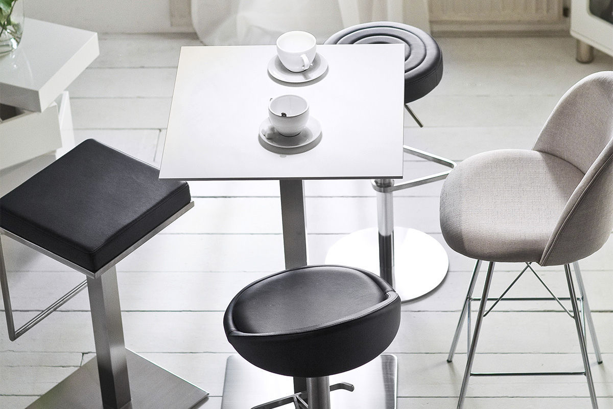 Contemporary Bar Stool / Stainless Steel / Polyurethane / Swivel With Chill Swivel Chairs With Metal Base (Image 11 of 25)