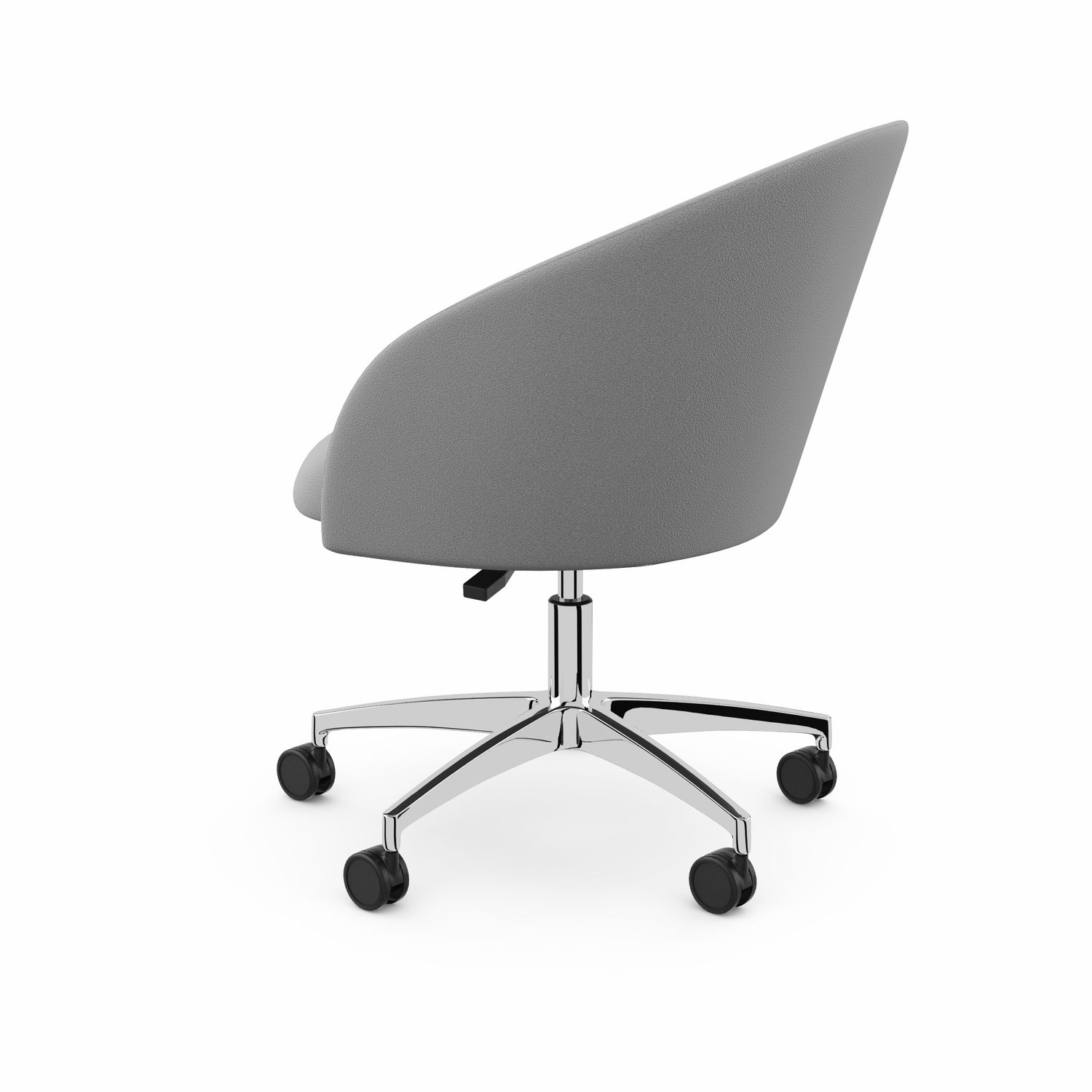Contemporary Visitor Armchair / Fabric / Chrome Steel / Star Base Pertaining To Chill Swivel Chairs With Metal Base (Image 13 of 25)
