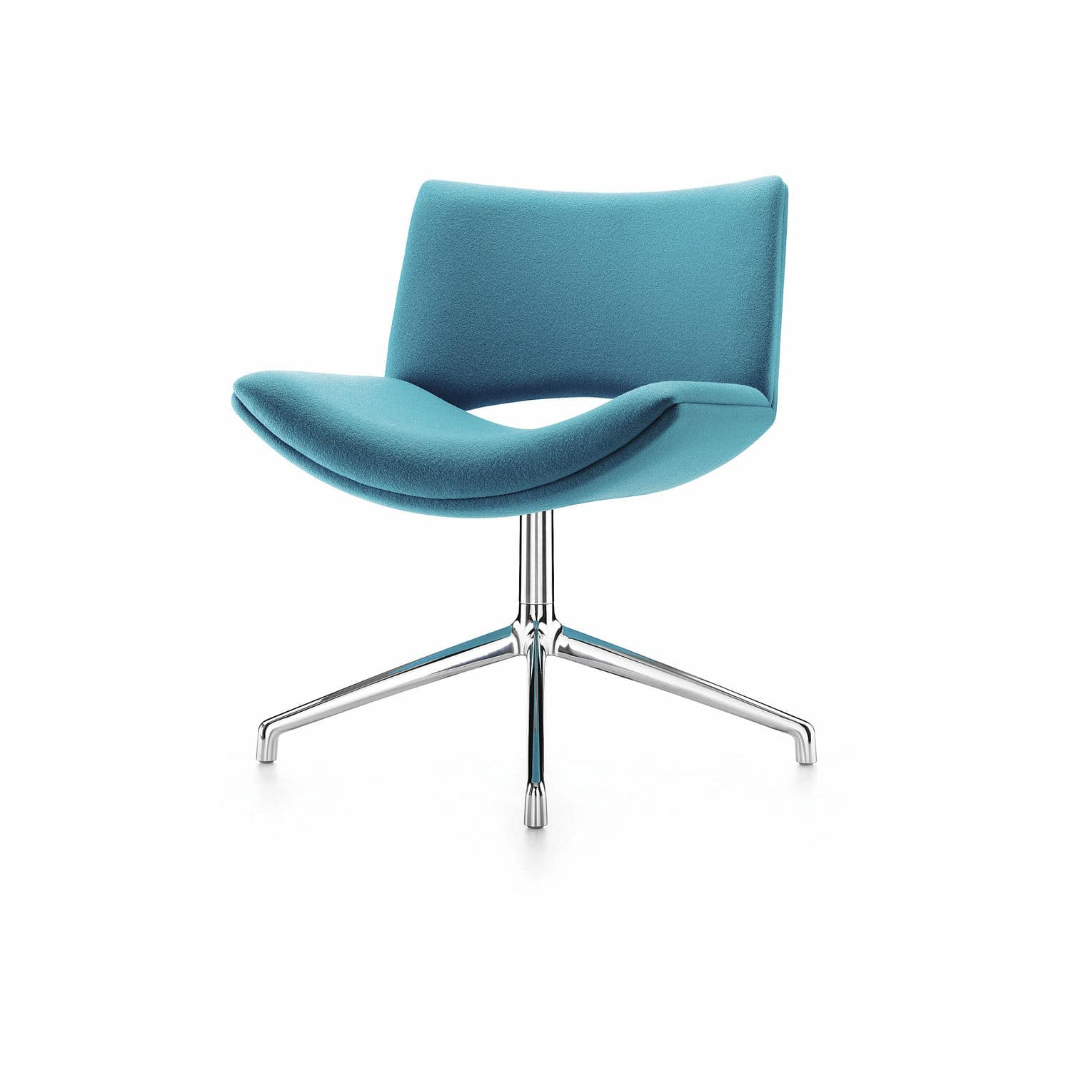 Contemporary Visitor Chair / Upholstered / Star Base / Swivel Pertaining To Chill Swivel Chairs With Metal Base (Image 15 of 25)