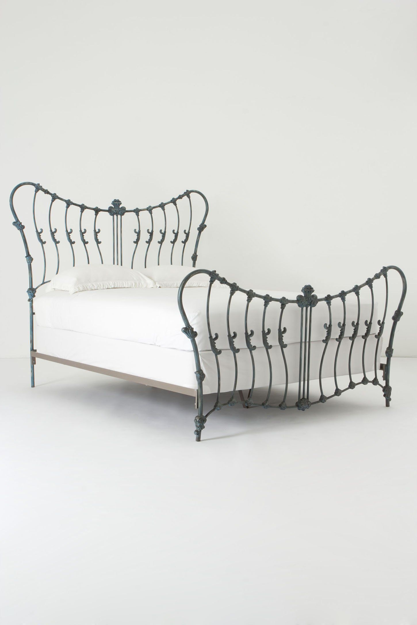 Cosette Bed | Furniture | Pinterest | Anthropologie, Slate And Iron Inside Cosette Leather Sofa Chairs (Image 6 of 25)