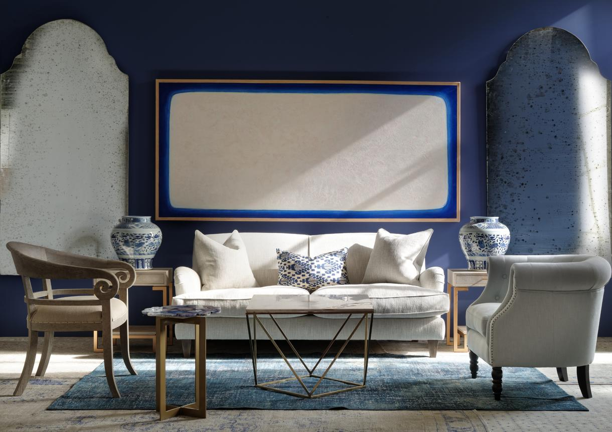 Cosette Chair In Trek Powder – Andrew Martin In Cosette Leather Sofa Chairs (Image 11 of 25)