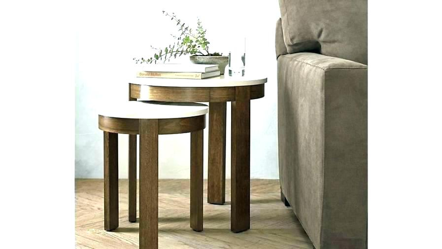 Crate And Barrel Coffee Table Oval Crate Barrel Era Limestone Round Regarding 2017 Era Limestone Console Tables (Image 4 of 25)