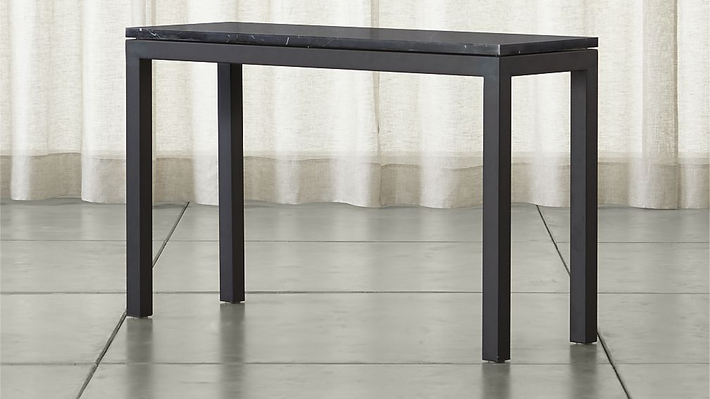 Crate And Barrel For Newest Clairemont Demilune Console Tables (Image 8 of 25)