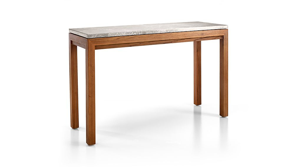 Crate Regarding Newest Parsons Grey Marble Top & Brass Base 48X16 Console Tables (Image 7 of 25)