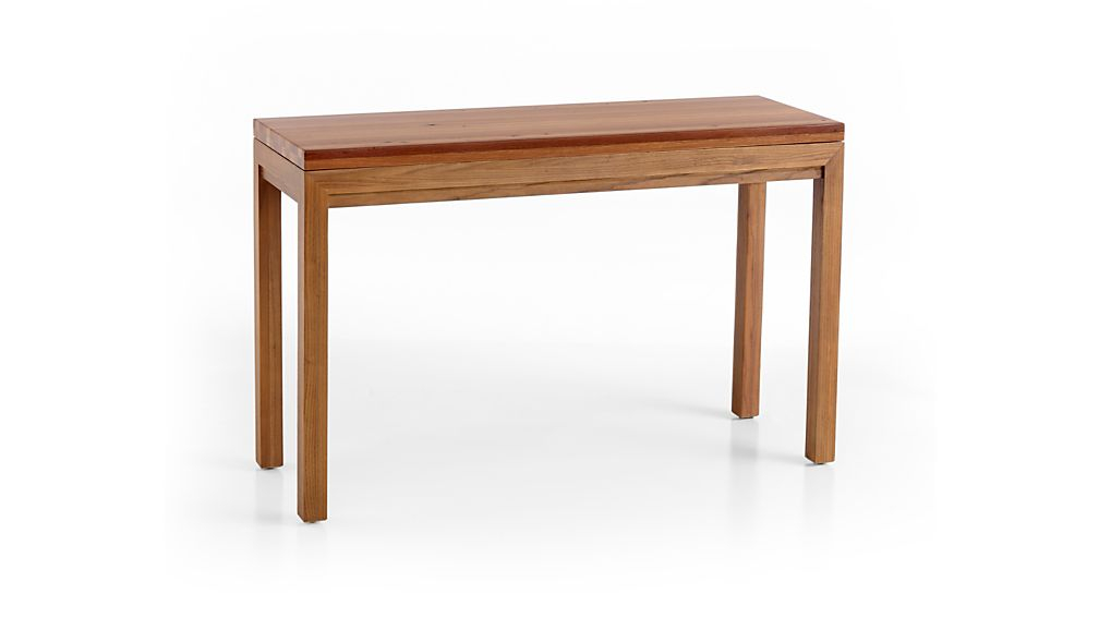 Crate Throughout Latest Parsons Travertine Top & Elm Base 48X16 Console Tables (View 16 of 25)