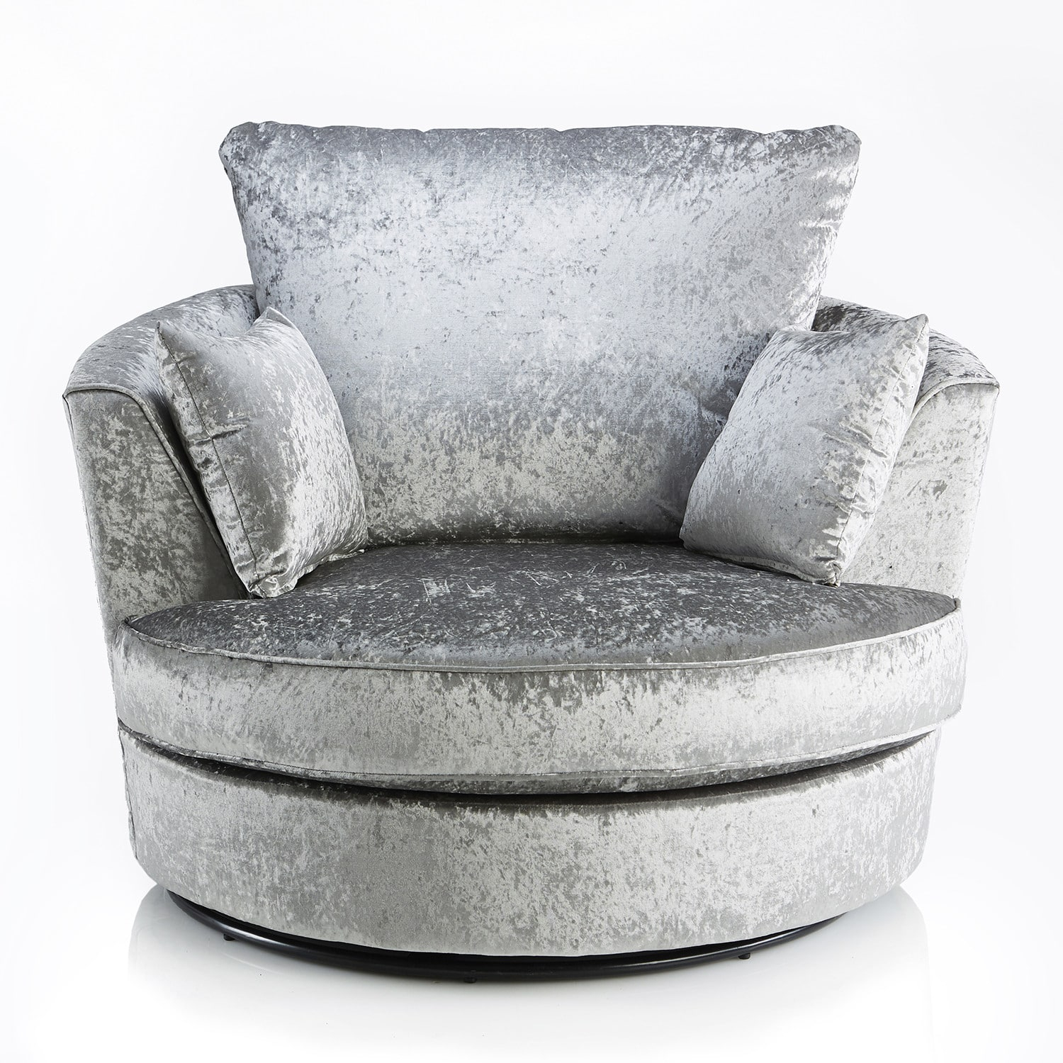 Crushed Velvet Furniture | Sofas, Beds, Chairs, Cushions Inside Grey Swivel Chairs (View 5 of 25)