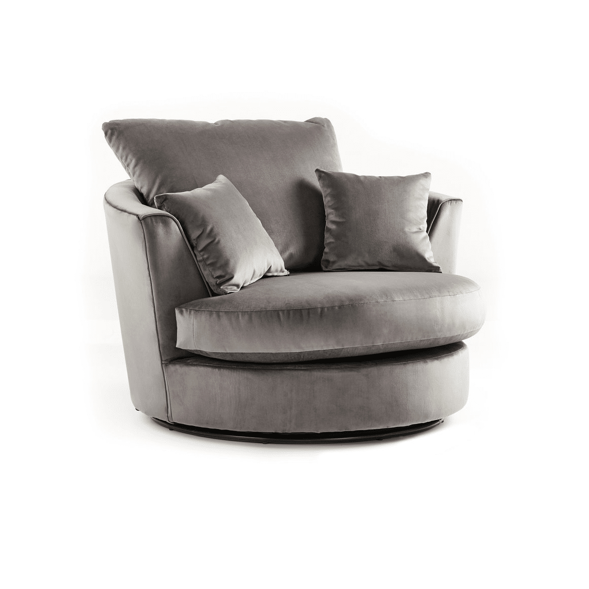 Crushed Velvet Furniture | Sofas, Beds, Chairs, Cushions Intended For Charcoal Swivel Chairs (View 3 of 25)